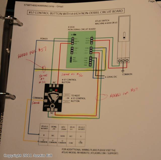 whoo hoo just arrived atlas o s new switch controller o gauge below is the wiring diagram steve horvath sent me on how to do it please pardon the photo quality as i m busy wiring new 57 s